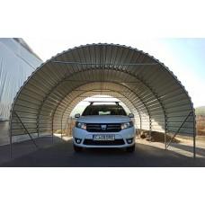 Carport 4x4,5m sátorgarázs - lemezfedéssel