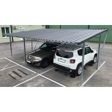Carport -Modulares Autodach 5.00x5.00m, Wellblech Blechplatten